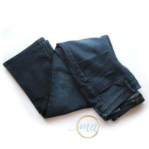 GUESS Dark Denim Jeans Petite Brittney Boot - 29